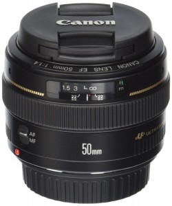 2. Canon EF 50mm USM Standard & Medium Telephoto Lens